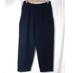 St. John Knit Navy Blue Capri Pocket Pants 12